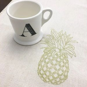 Anthropologie Letter A monogram Initial Footed Mug